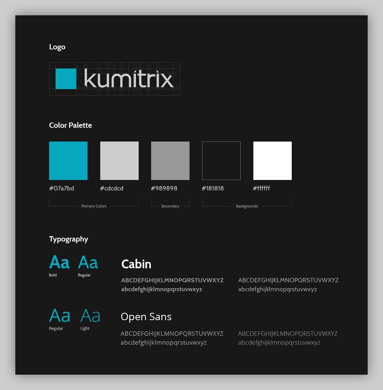 kumitrix brand guidelines